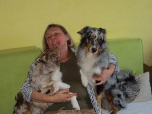 Dakota, Nikan und Ich (Frauchen)